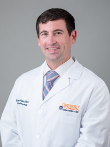 Radiation Oncology resident, David Cousins, MD