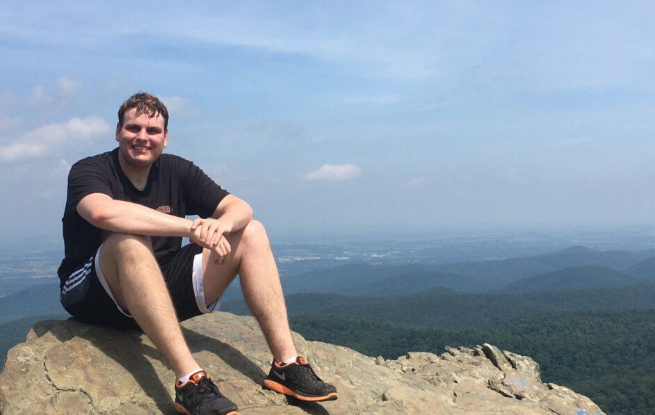 resident climbing Humpback Rock