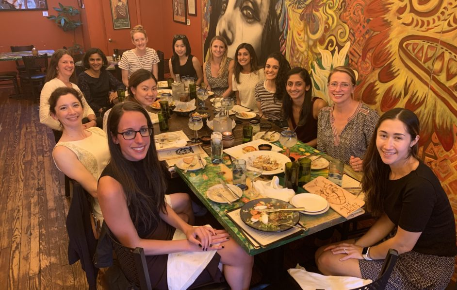 As part of the 'Ladyologist' program, faculty and trainees enjoyed a relaxed meal together