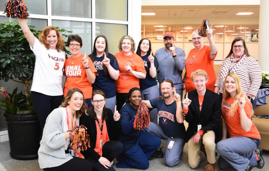 Radiology staff celebrates UVA Basketball's 2019 NCAA Championship victory