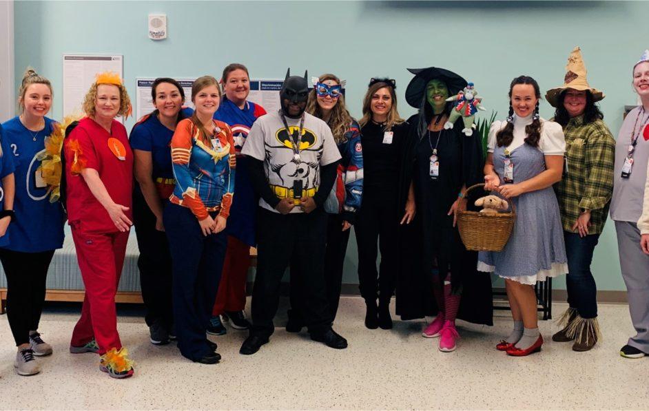 Radiology team members dress up for Halloween 2019