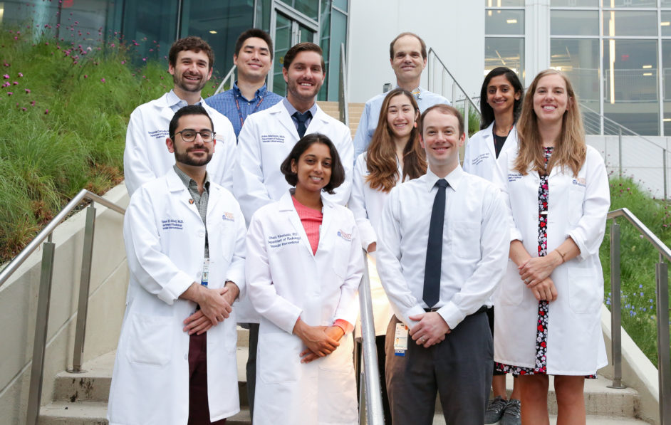 The 2019 Interventional Radiology residents pose with Dr. Fritz Angle, Chief of I.R.