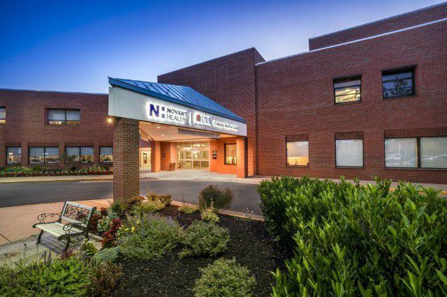 the front entrance of Novant Health UVA Health System Culpeper Medical Center