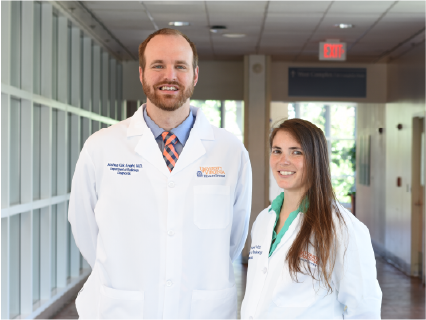 2020-2021 UVA Diagnostic Radiology Chief Residents Joshua Knight, MD, and Nicole Kapral, MD