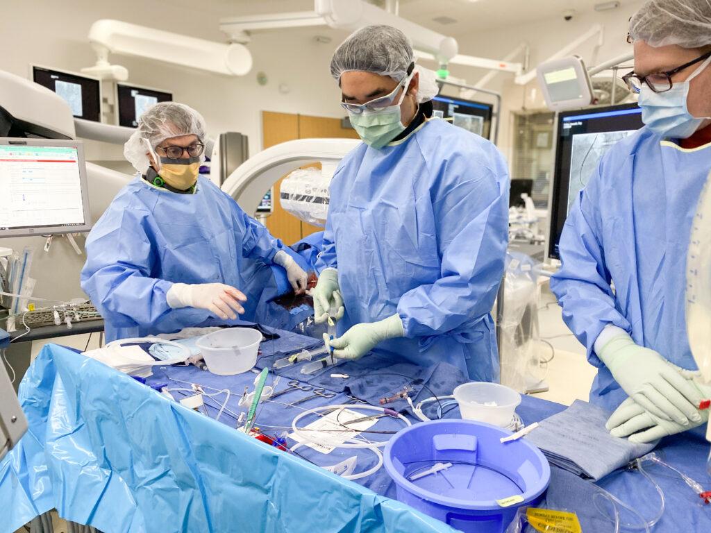 UVA Interventional Radiology procedure room