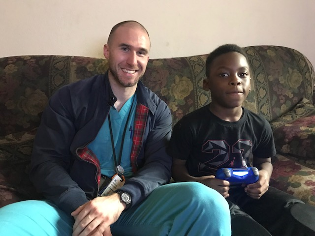 UVA Radiology resident Andrew Renaldo poses with his Little Brother