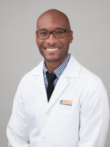 Dr. Taison Bell, MD, assistant professor of medicine, director of the ICU, and a UVA Radiology Keynote lecturer