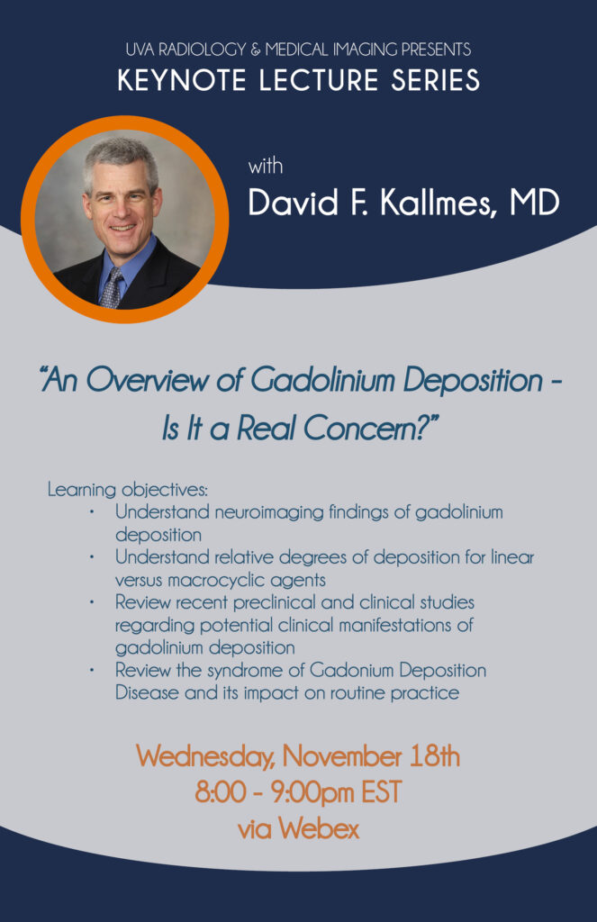 UVA Radiology Keystone Lecture with Dr. David Kallmes