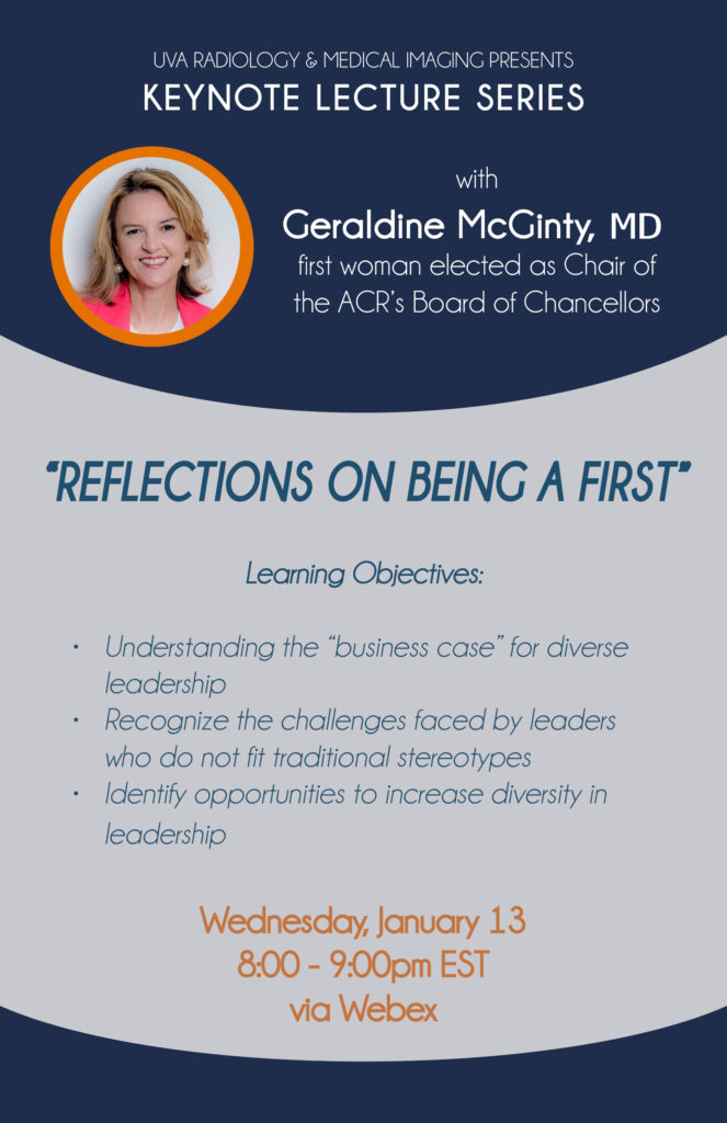 UVA Radiology Keynote Lecture featuring Dr. Geraldine McGinty