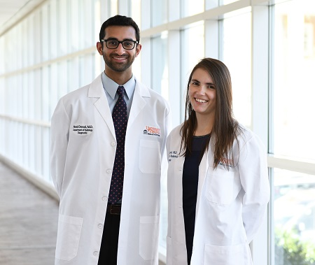 UVA Radiology 2021-2022 Diagnostic Radiology Chief Residents Neal Desai, MD, and Nicole Kapral, MD
