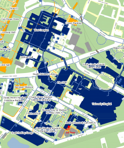 map showing Research Histology Core