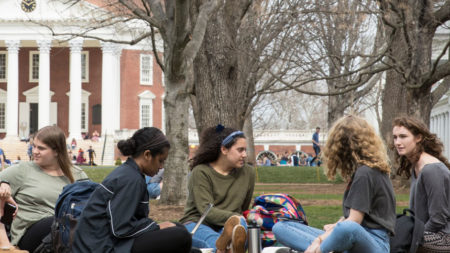 group on the UVA lawn