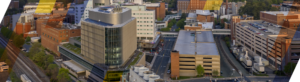 Photo showing UVA Medical Center Charlottesville VA, which supports student advocacy and support throughout