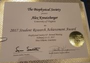 Alex Kreutzberger wins Student Research Achievement Award at the Biophysical Society Annual Meeting in New Orleans