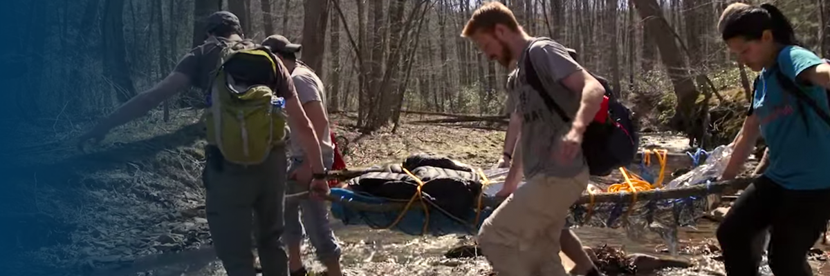 "<a href=""https://news.med.virginia.edu/?p=1196"">The UVA School of Medicine offers a unique course in Wilderness Medicine which includes real life rescue simulations, such as resucing a fallen, unresponsive hiker from the Appalachian Mountains.   Watch the Video. Learn More.</a>"