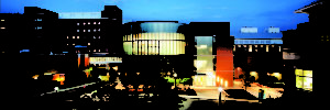 Claude Moore building at night