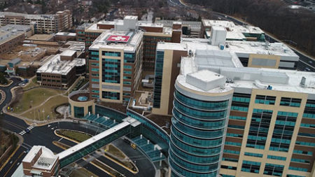 Overhead photo of uva hospital