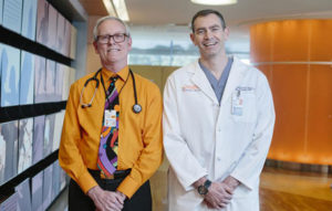 Dr. Thomas L'Ecuyer (left) and Dr. James Gangemi. Photo by Jackson Smith.