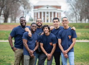 6 guys in front of rotunda