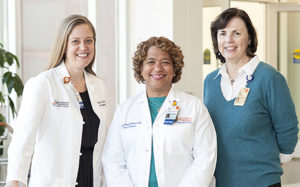 pediatric doctors and white coats