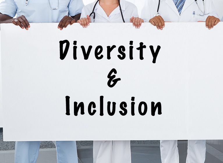 Hands holding Diversity and Inclusion sign