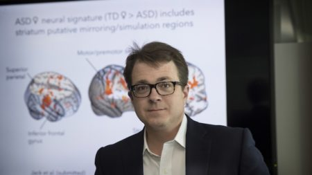 Kevin Pelphrey with Autism Research