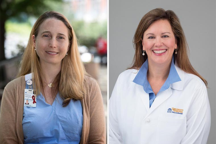 Photo: UVA's Licensing & Ventures Group has honored our Rebecca Dillingham, MD, and Karen Ingersoll, PhD, as the 2020 Edlich-Henderson Innovators of the Year for creating an app to help people living with HIV.