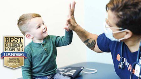 child high-five